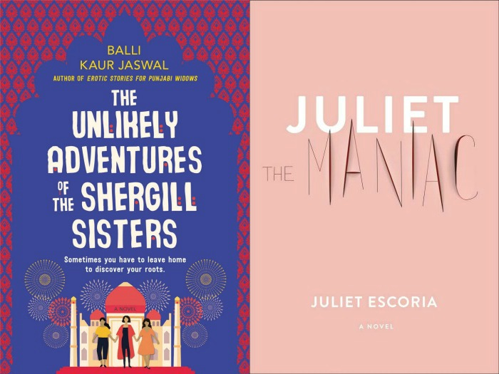 Novel Visits' My Week in Books for 4/22/19: Likely to Read Next - The Unlikely Adventures of the Shergill Sisters by Balli Kaur Jaswal and Juliet the Maniac by Juliet Escoria