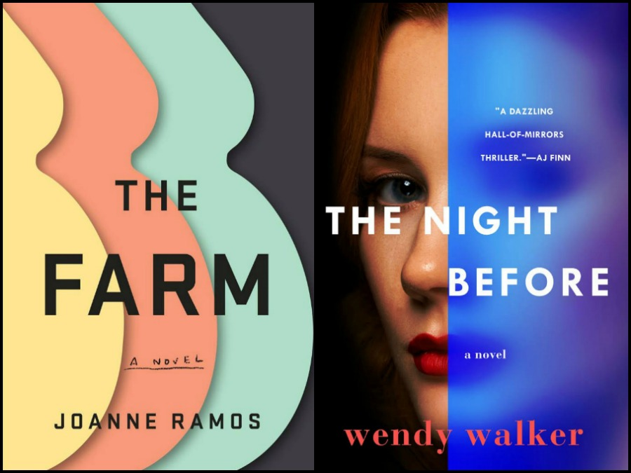 Novel Visits' My Week in Books for 4/29/19: Likely to Read Next - The Farm by Joanne Ramos and The Night Before by Wendy Walker