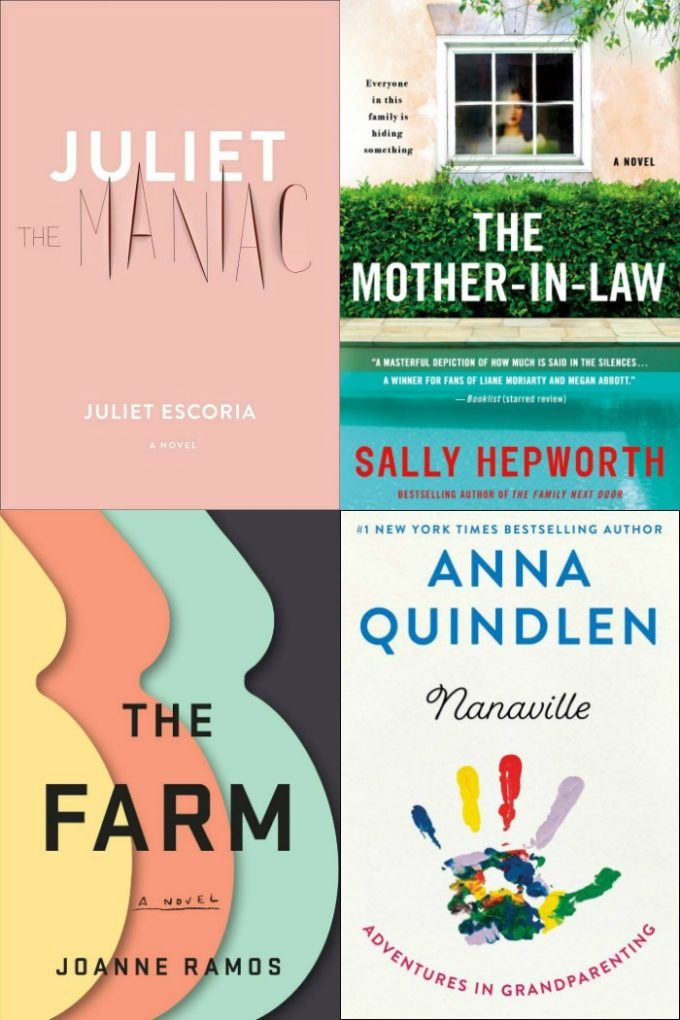 Novel Visits' My Week in Books for 5/6/19: Last Week's Reads - Juliet the Maniac by Juliet Escoria, The Mother-In-Law by Sally Hepworth, The Farm by Joanne Ramos, Nanaville by Anna Quindlen