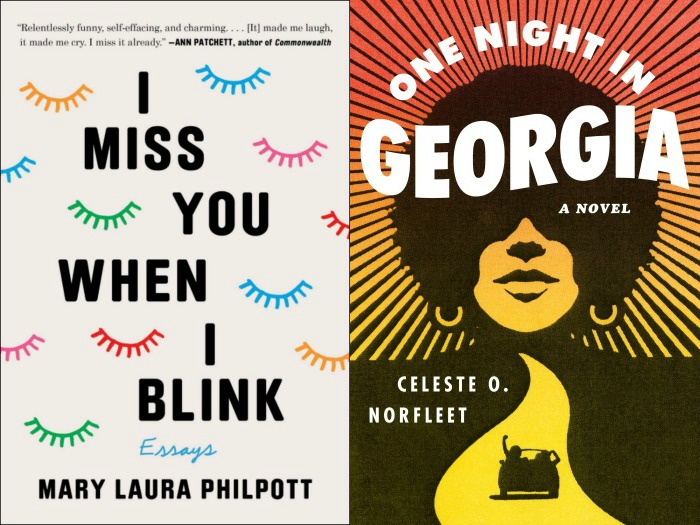 Novel Visits' My Week in Books for 6/3/19: Currently Reading - I Miss You When I Blink by Mary Laura Philpott and One night in Georgia by Celeste O. Norfleet