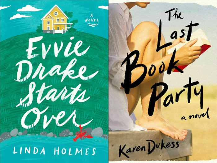 Novel Visits' My Week in Books 7-1-19: Currently Reading - Evvie Drake Starts Over by Linda Holmes and The Last Book Party by Karen Dukess
