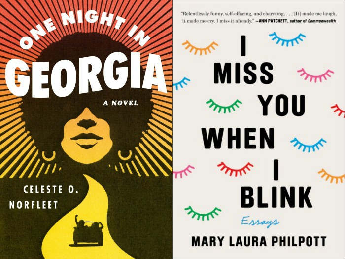 Novel Visits' My Week in Books for 6/10/19: Last Week's Reads - One Night in Georgia by Celeste O. Norfleet and I Miss You When I Blink by Mary Laura Philpott