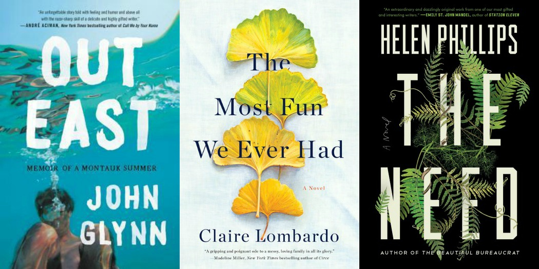 Novel Visits' My Week in Books 7-1-19: Last Week's Reads - Out East by John Glynn, The Most Fun We Ever Had by Clare Mackintosh, and The Need by Helen Phillips