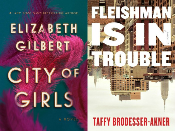 Novel Visits' My Week in Books for 6/3/19: Likely to Read Next - City of Girls by Elizabeth Gilbert and Fleishman is in Trouble by Taffy Brodesser-Akner