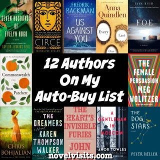 Novel Visits: 12 Authors on My Auto-Buy List