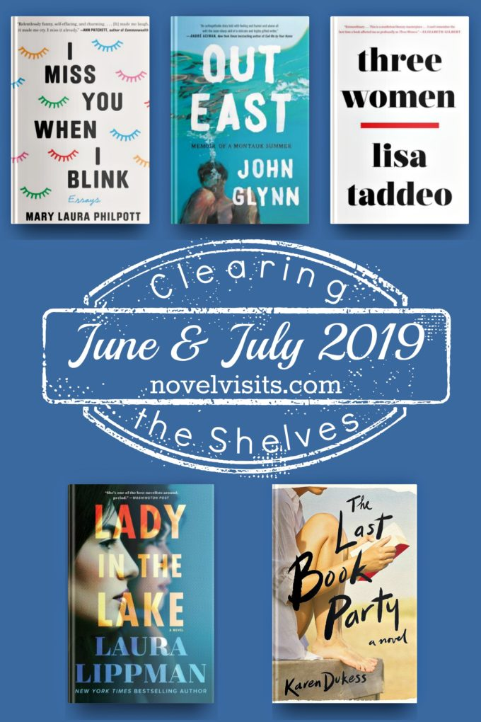Novel Visits' Clearing the Shelves June and July 2019