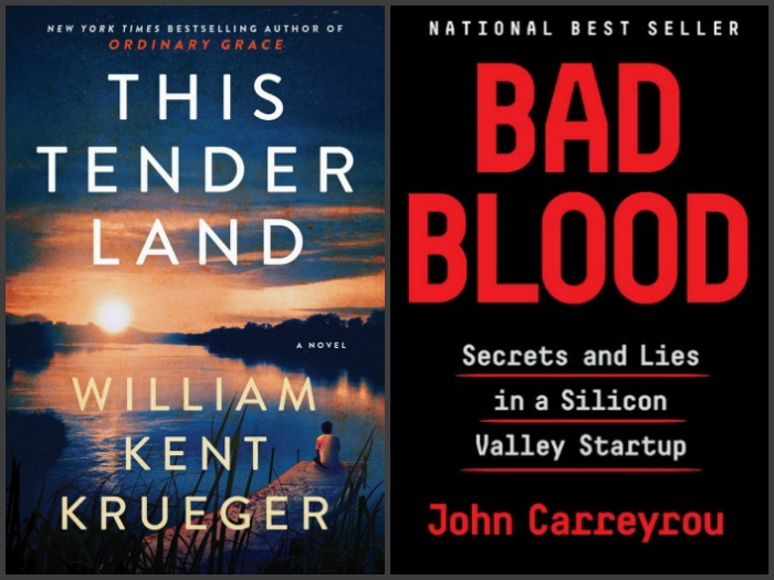 This Tender Land by William Kent Krueger and Bad Blood by John Carreyrou