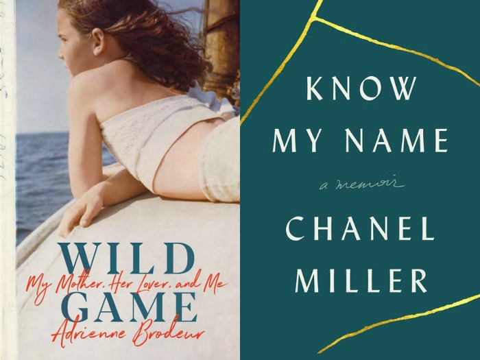 Game by Adrienne Brodeur and Know My Name by Chanel Miller