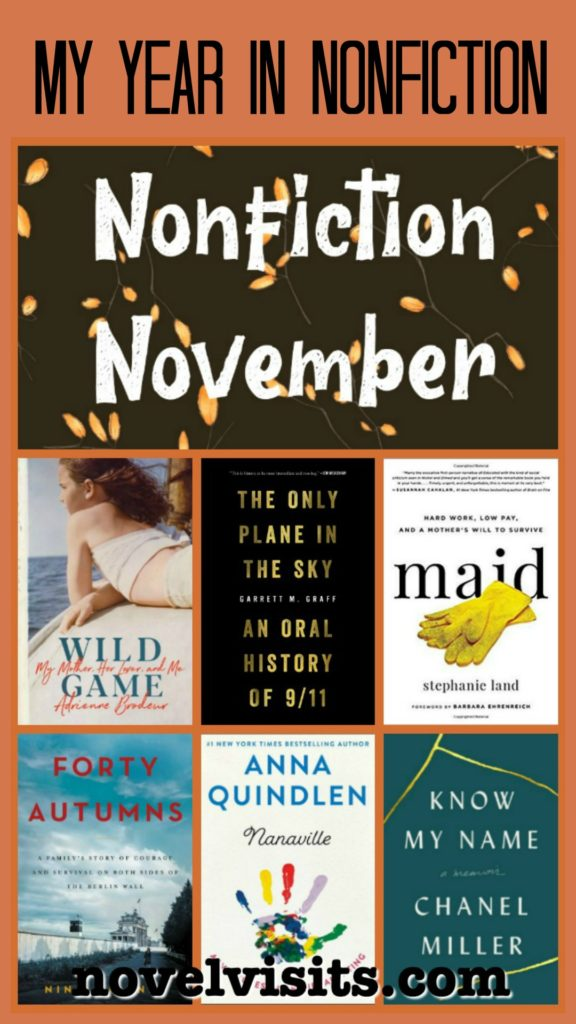 Novel Visits' My Year in Nonfiction for 2019 - A look back at nonfiction books for 2019, including my top nonfiction, plus nonfiction reading trends and more.