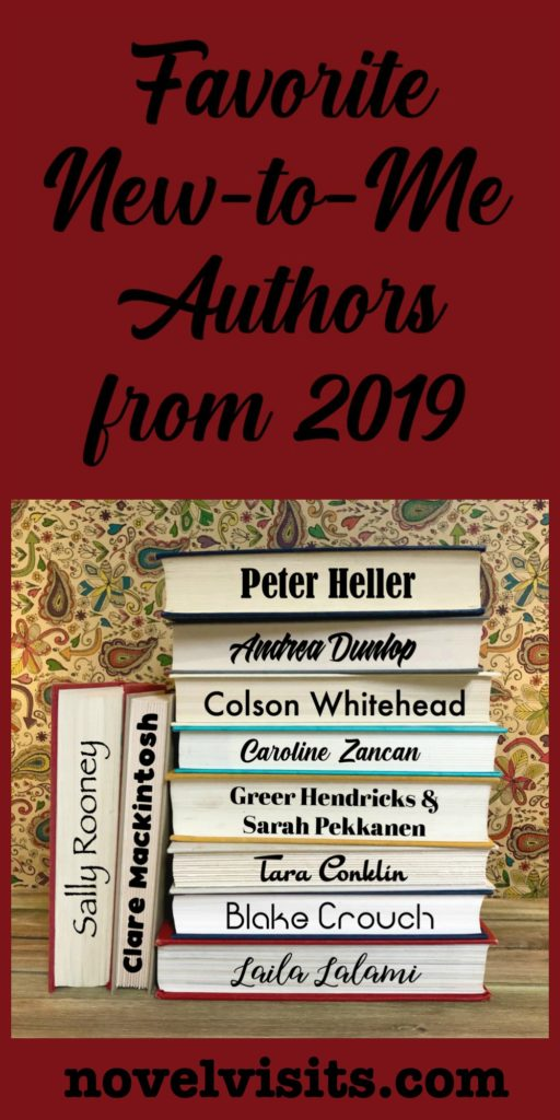 Novel Visits' Favorite New-to-Me Authors from 2019