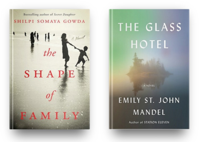 The Shape of a Family by Shilpi Somaya Gowda and The Glass Hotel by Emily St. John Mandel