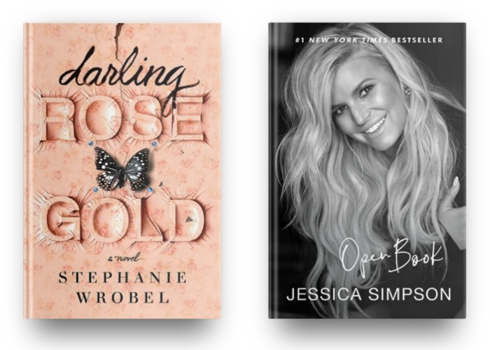 Darling Rose Gold by Stephanie Wrobel and Open Book by Jessica Simpson
