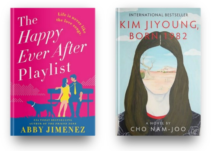 The Happy Ever After Playlist by Abby Jimenez and Kim Jiyoung, Born 1982 by Cho Nam-Joo