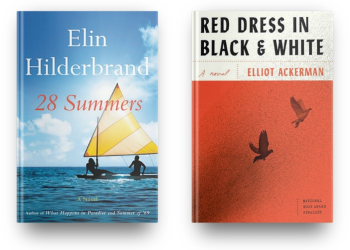 28 Summers by Elin Hilderbrand and Red Dress in Black & White by Elliot Ackerman