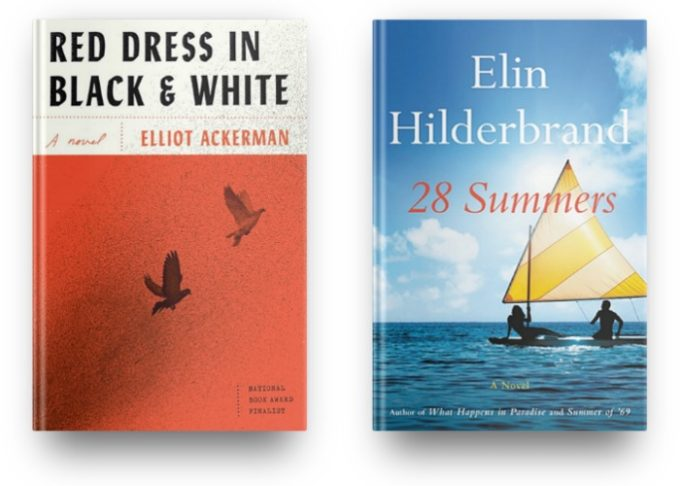 Red Dress in Black & White by Elliot Ackerman and 28 Summers by Elin Hilderbrand