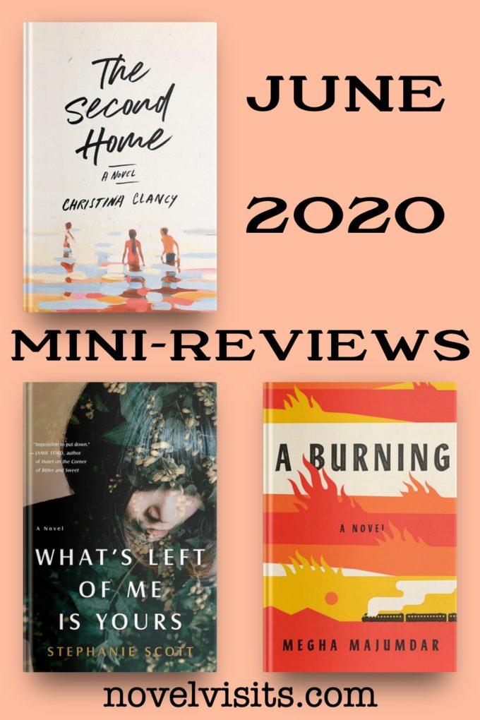 Novel Visits' June Mini-Reviews ~ A Trio of Fiction!