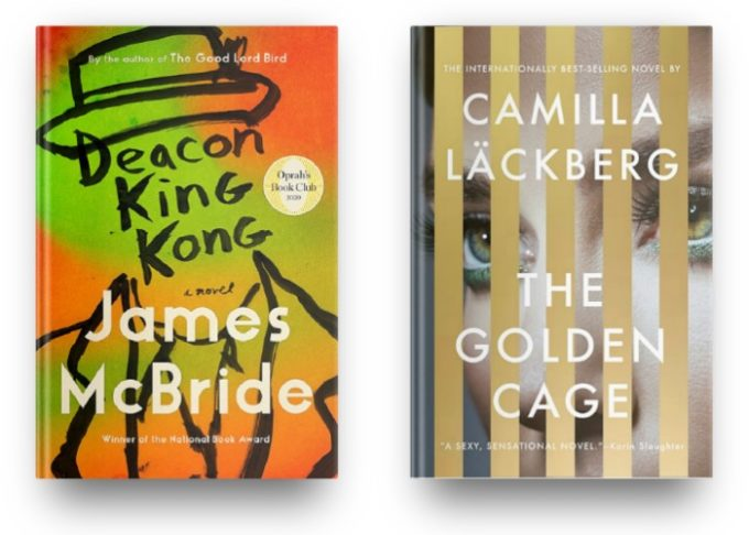 Deacon King Kong by James McBride and The Golden Cage by Camilla Lackberg
