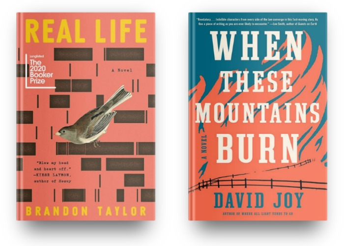 Real Life by Brandon Taylor and When These Mountains Burn by David Joy