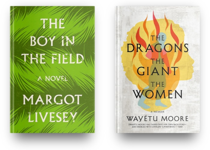 The Boy in the Field by Margot Livesey and The Dragons The Giants The Women by Wayetu Moore