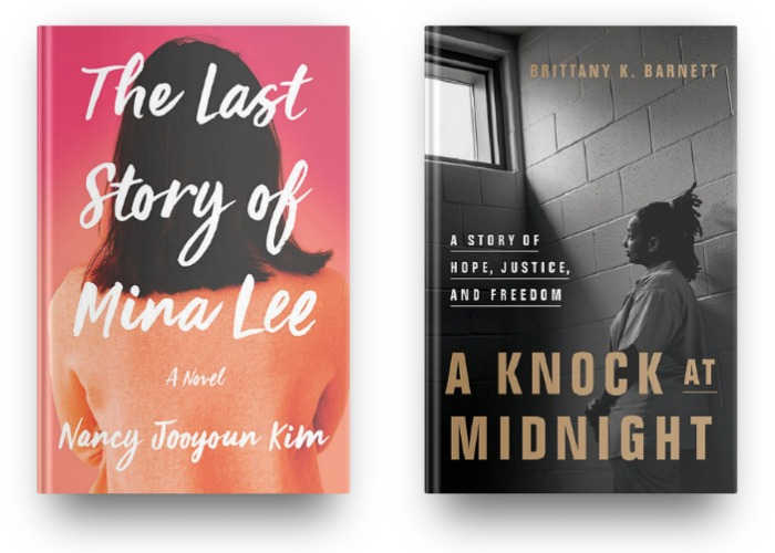 The Last Story of Mina Lee by Nancy Jooyoun Kim and A Knock at Midnight by Brittany K. Barnett