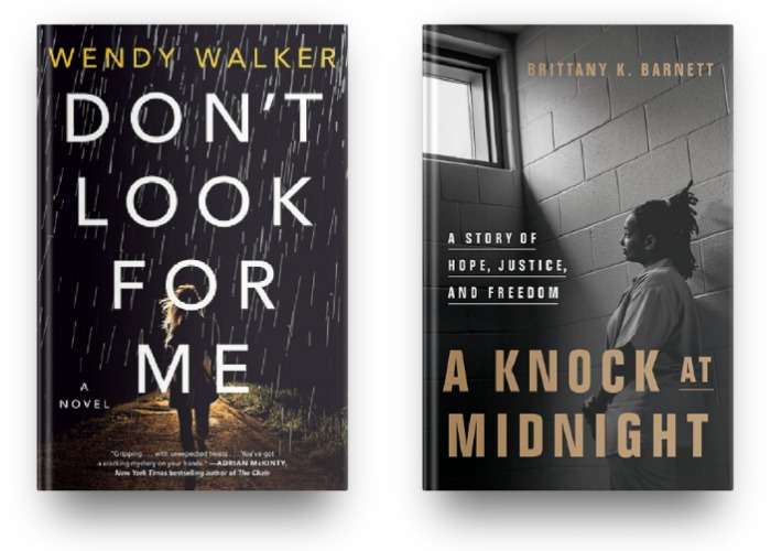 Don't Look for Me by Wendy Walker and A Knock at Midnight by Brittany K. Barnett