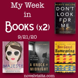 Novel Visits' My Week in Books (x2) for 9/21/20