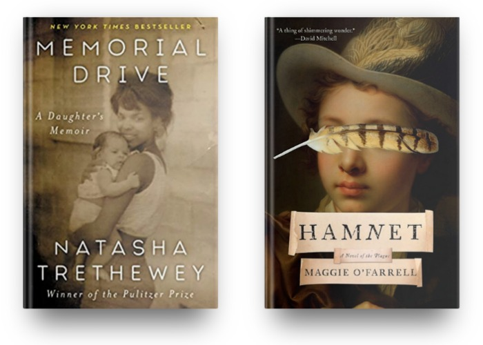 Memorial Drive by Natasha Trethewey and Hamnet by Maggie O'Farrell