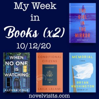 Novel Visits' My Week in Books for 10/12/20