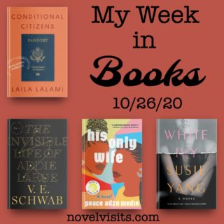 Novel Visits' My Week in Books for 10/26/20