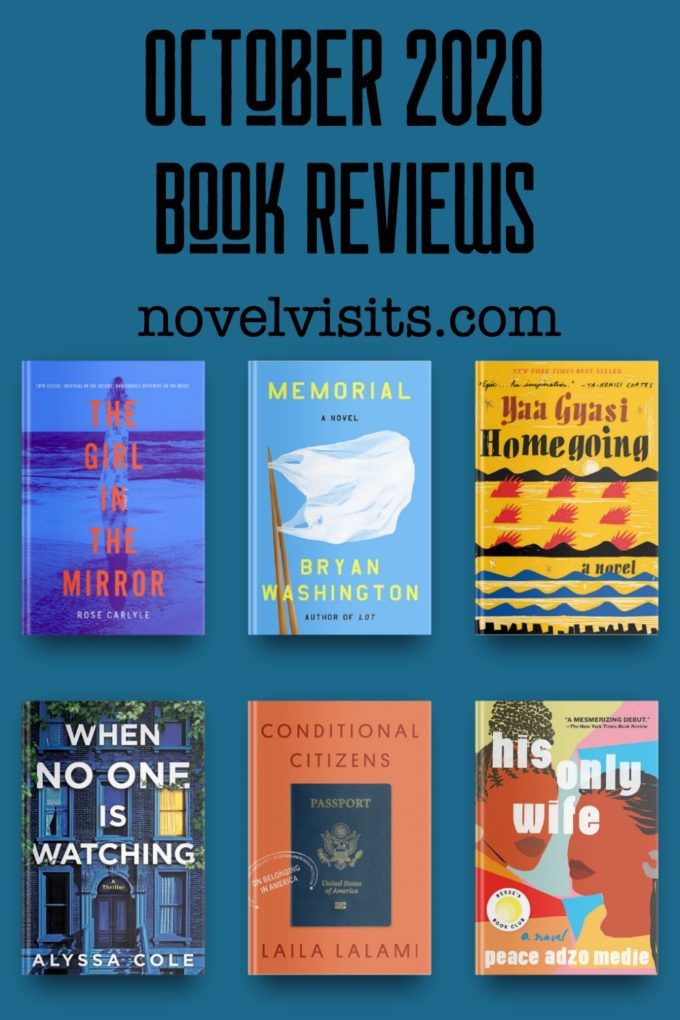 Novel Visits' October 2020 Reviews