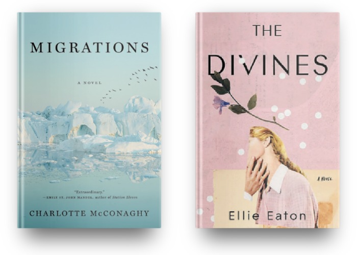 Migrations by Charlotte McConaghy and The Divines by Elle Eaton