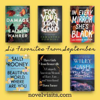 Novel Visits' Six Favorites From September